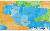 Political Shades 3D Map of Comoe