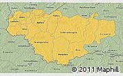 Savanna Style 3D Map of Comoe