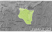 Physical 3D Map of Banfora, darken, desaturated