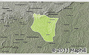 Physical 3D Map of Banfora, darken, semi-desaturated