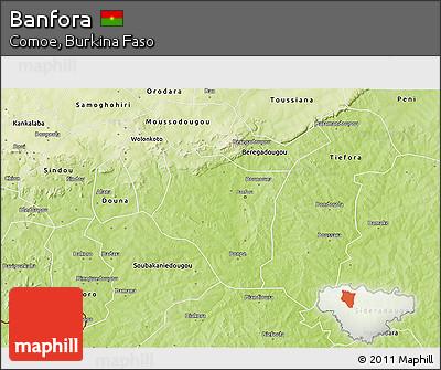 Physical 3D Map of Banfora