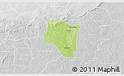 Physical 3D Map of Banfora, lighten, desaturated