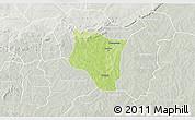 Physical 3D Map of Banfora, lighten, semi-desaturated