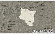 Shaded Relief 3D Map of Banfora, darken