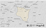 Shaded Relief 3D Map of Banfora, desaturated