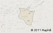 Shaded Relief 3D Map of Banfora, lighten