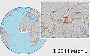 Gray Location Map of Banfora