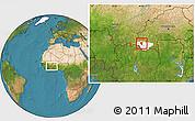 Satellite Location Map of Banfora, highlighted parent region