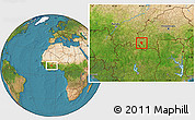 Satellite Location Map of Banfora