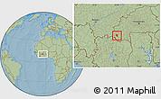 Savanna Style Location Map of Banfora, hill shading