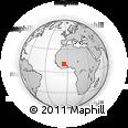 Outline Map of Banfora