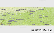 Physical Panoramic Map of Banfora