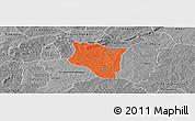Political Panoramic Map of Banfora, desaturated