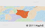Political Panoramic Map of Banfora, lighten