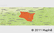 Political Panoramic Map of Banfora, physical outside