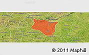Political Panoramic Map of Banfora, satellite outside