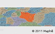 Political Panoramic Map of Banfora, semi-desaturated