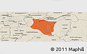 Political Panoramic Map of Banfora, shaded relief outside