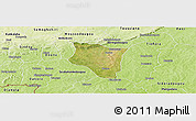 Satellite Panoramic Map of Banfora, physical outside