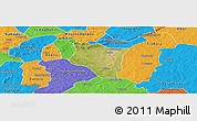 Satellite Panoramic Map of Banfora, political outside