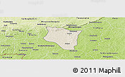 Shaded Relief Panoramic Map of Banfora, physical outside