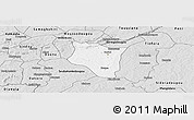 Silver Style Panoramic Map of Banfora