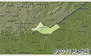Physical 3D Map of Beregadougou, darken