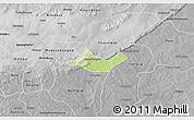 Physical 3D Map of Beregadougou, desaturated
