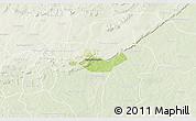 Physical 3D Map of Beregadougou, lighten