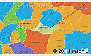 Physical 3D Map of Beregadougou, political outside