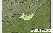 Physical Map of Beregadougou, darken