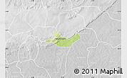 Physical Map of Beregadougou, lighten, desaturated