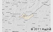 Shaded Relief Map of Beregadougou, desaturated