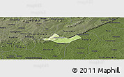 Physical Panoramic Map of Beregadougou, darken