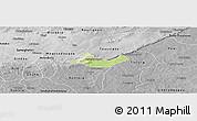 Physical Panoramic Map of Beregadougou, desaturated