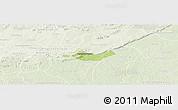Physical Panoramic Map of Beregadougou, lighten