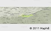 Physical Panoramic Map of Beregadougou, semi-desaturated