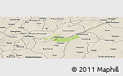 Physical Panoramic Map of Beregadougou, shaded relief outside