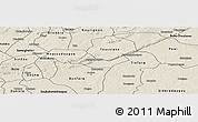 Shaded Relief Panoramic Map of Beregadougou