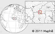 Blank Location Map of Dakoro