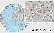 Gray Location Map of Dakoro