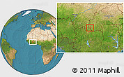 Satellite Location Map of Dakoro