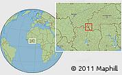 Savanna Style Location Map of Dakoro