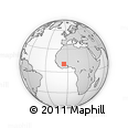 Outline Map of Dakoro