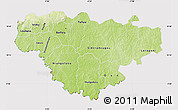 Physical Map of Comoe, cropped outside