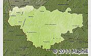 Physical Map of Comoe, darken