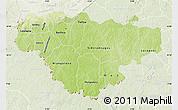 Physical Map of Comoe, lighten