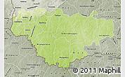 Physical Map of Comoe, semi-desaturated