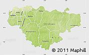 Physical Map of Comoe, single color outside