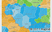 Political Shades Map of Comoe